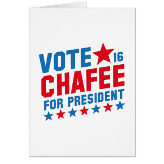 Vote Lincoln Chafee Card
