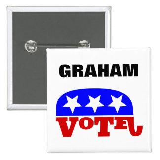 Vote Lindsey Graham Republican Elephant Pinback Button