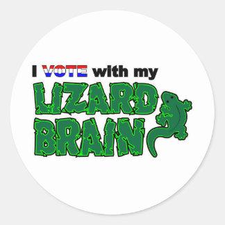 Vote_Lizard_Brain Classic Round Sticker