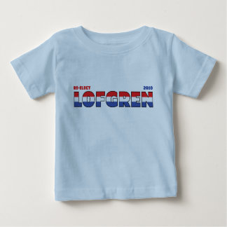 Vote Lofgren 2010 Elections Red White and Blue Baby T-Shirt