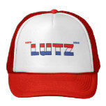 Vote Lutz 2010 Elections Red White and Blue Hat