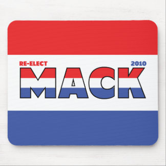 Vote Mack 2010 Elections Red White and Blue Mouse Pad
