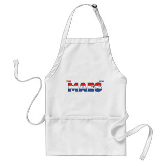 Vote Maes 2010 Elections Red White and Blue Adult Apron