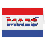 Vote Maes 2010 Elections Red White and Blue Cards