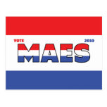 Vote Maes 2010 Elections Red White and Blue Postcard