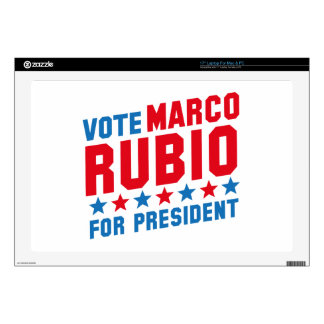 "Vote Marco Rubio 17"" Laptop Skins"