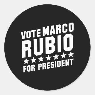 Vote Marco Rubio Classic Round Sticker