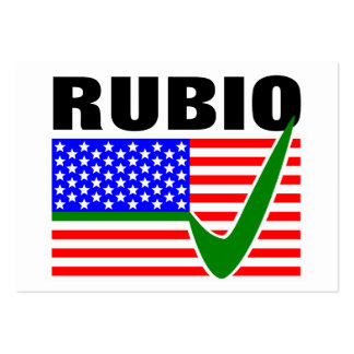Vote Marco Rubio for President 2016 Large Business Card