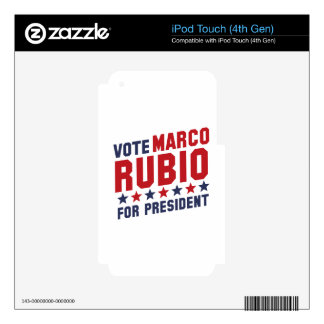 Vote Marco Rubio iPod Touch 4G Skin