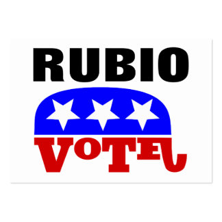 Vote Marco Rubio Republican Elephant Large Business Cards (Pack Of 100)