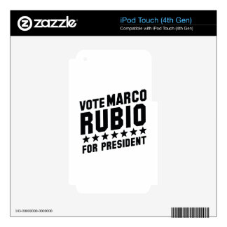 Vote Marco Rubio Skin For iPod Touch 4G
