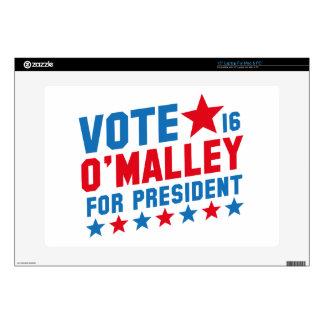 "Vote Martin O'Malley 15"" Laptop Skins"
