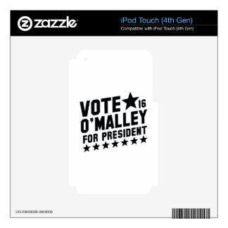 Vote Martin O'Malley Decals For iPod Touch 4G