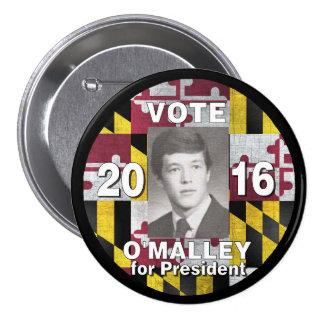 Vote Martin O'Malley for President 2016 Pinback Button