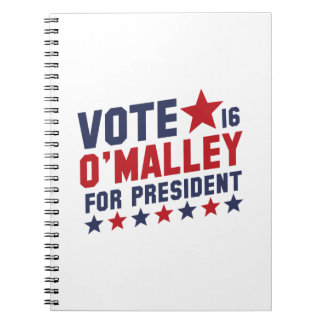 Vote Martin O'Malley Notebook