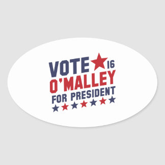 Vote Martin O'Malley Oval Sticker