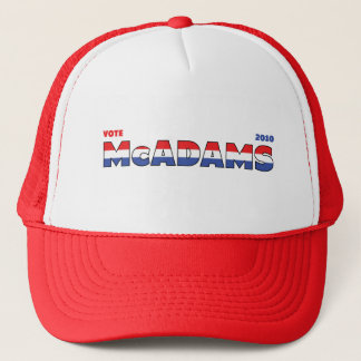 Vote McAdams 2010 Elections Red White and Blue Trucker Hat