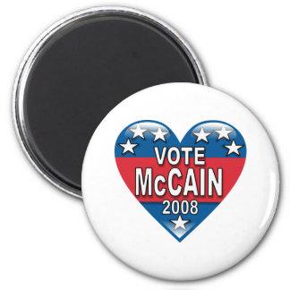 Vote McCain 2008 2 Inch Round Magnet