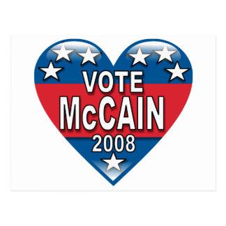 Vote McCain 2008 Postcard
