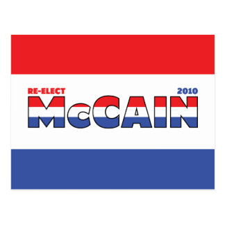 Vote McCain 2010 Elections Red White and Blue Postcard