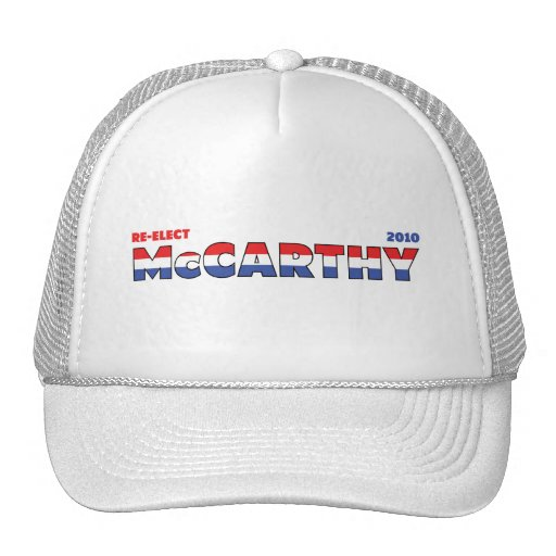 Vote McCarthy 2010 Elections Red White and Blue Trucker Hat