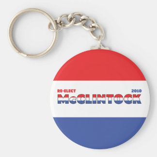 Vote McClintock 2010 Elections Red White and Blue Basic Round Button Keychain
