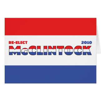 Vote McClintock 2010 Elections Red White and Blue Card