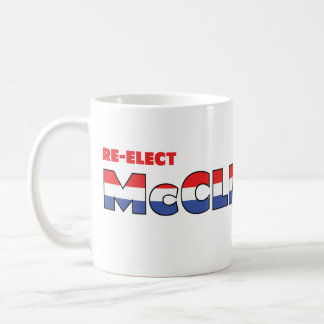 Vote McClintock 2010 Elections Red White and Blue Classic White Coffee Mug