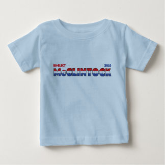 Vote McClintock 2010 Elections Red White and Blue T Shirt