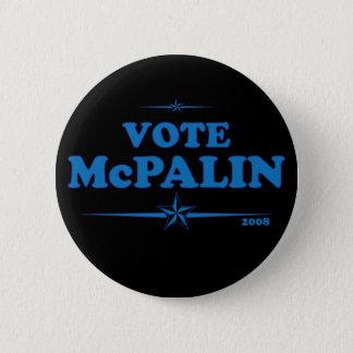 Vote McPALIN Campaign Badge. McCAIN PALIN Pinback Button