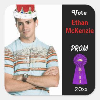 Vote me for Prom King (Purple) Square Sticker