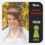 Vote me for Prom Queen (Green) Square Sticker