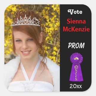 Vote me for Prom Queen (Purple) Square Sticker