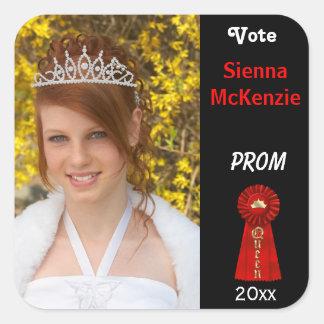 Vote me for Prom Queen (Red) Square Sticker