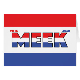 Vote Meek 2010 Elections Red White and Blue Card