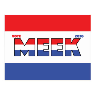 Vote Meek 2010 Elections Red White and Blue Postcard