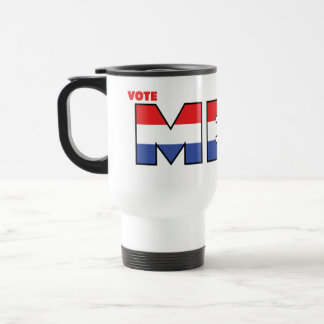Vote Meek 2010 Elections Red White and Blue Travel Mug