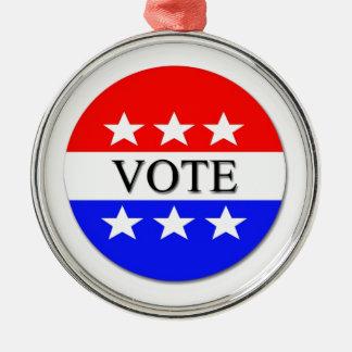Vote Metal Ornament