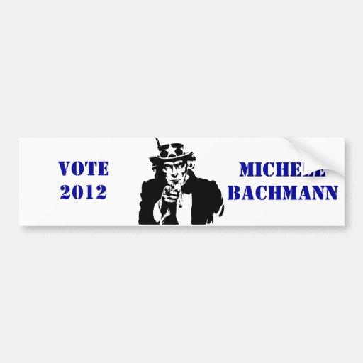 VOTE MICHELE BACHMANN 2012 BUMPER STICKER