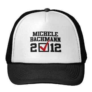 VOTE MICHELE BACHMANN 2012 TRUCKER HATS