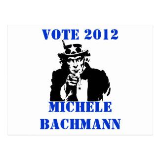 VOTE MICHELE BACHMANN 2012 POSTCARD