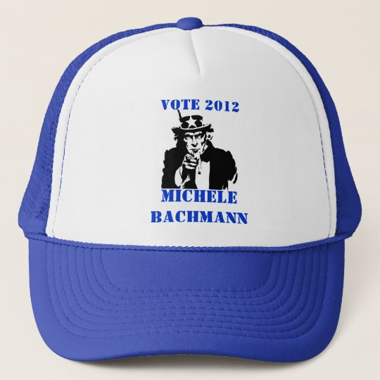 VOTE MICHELE BACHMANN 2012 TRUCKER HAT