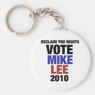 Vote Mike Lee 2010 Basic Round Button Keychain