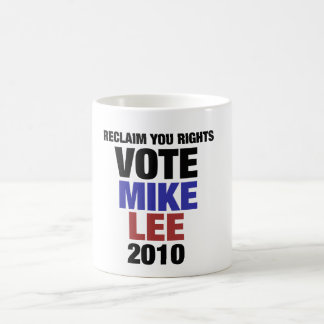 Vote Mike Lee 2010 Coffee Mug