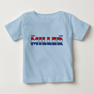 Vote Miller 2010 Elections Red White and Blue Baby T-Shirt