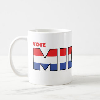 Vote Miller 2010 Elections Red White and Blue Classic White Coffee Mug