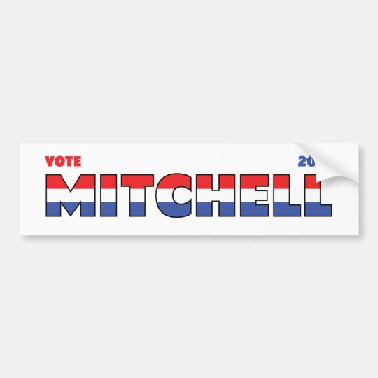 Vote Mitchell 2010 Elections Red White and Blue Bumper Sticker