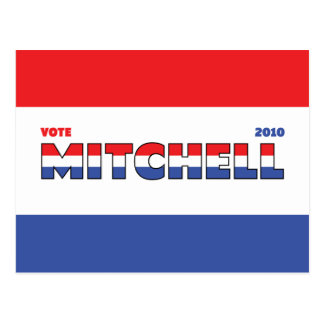 Vote Mitchell 2010 Elections Red White and Blue Postcard