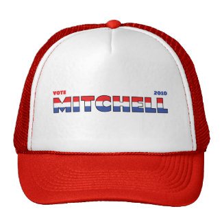 Vote Mitchell 2010 Elections Red White and Blue Trucker Hat