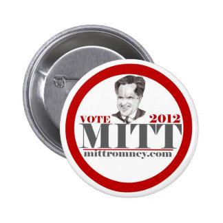Vote Mitt 2012 Pinback Button